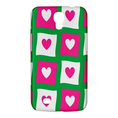 Pink Hearts Valentine Love Checks Samsung Galaxy Mega 6 3  I9200 Hardshell Case