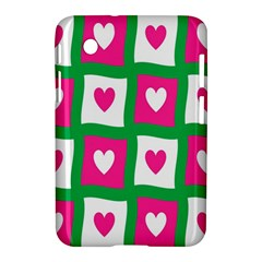 Pink Hearts Valentine Love Checks Samsung Galaxy Tab 2 (7 ) P3100 Hardshell Case