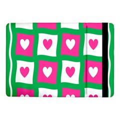 Pink Hearts Valentine Love Checks Samsung Galaxy Tab Pro 10 1  Flip Case by Nexatart