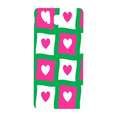 Pink Hearts Valentine Love Checks Samsung Galaxy Alpha Hardshell Back Case by Nexatart