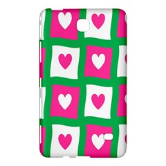 Pink Hearts Valentine Love Checks Samsung Galaxy Tab 4 (7 ) Hardshell Case