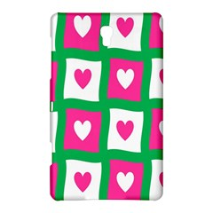 Pink Hearts Valentine Love Checks Samsung Galaxy Tab S (8 4 ) Hardshell Case  by Nexatart