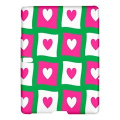 Pink Hearts Valentine Love Checks Samsung Galaxy Tab S (10 5 ) Hardshell Case