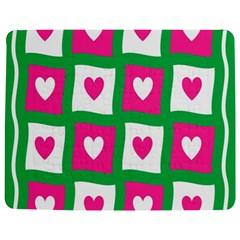 Pink Hearts Valentine Love Checks Jigsaw Puzzle Photo Stand (rectangular)