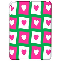 Pink Hearts Valentine Love Checks Apple Ipad Pro 9 7   Hardshell Case by Nexatart