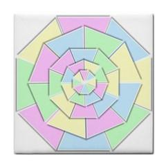 Color Wheel 3d Pastels Pale Pink Tile Coasters