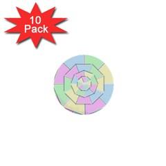 Color Wheel 3d Pastels Pale Pink 1  Mini Buttons (10 Pack)