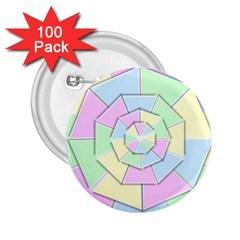 Color Wheel 3d Pastels Pale Pink 2 25  Buttons (100 Pack)
