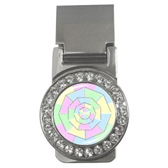 Color Wheel 3d Pastels Pale Pink Money Clips (cz)  by Nexatart