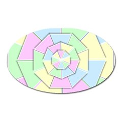 Color Wheel 3d Pastels Pale Pink Oval Magnet