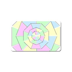 Color Wheel 3d Pastels Pale Pink Magnet (name Card)