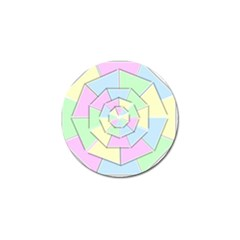 Color Wheel 3d Pastels Pale Pink Golf Ball Marker (4 Pack)