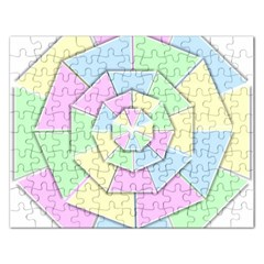 Color Wheel 3d Pastels Pale Pink Rectangular Jigsaw Puzzl