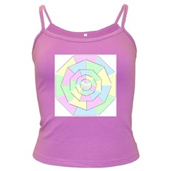 Color Wheel 3d Pastels Pale Pink Dark Spaghetti Tank