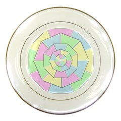 Color Wheel 3d Pastels Pale Pink Porcelain Plates