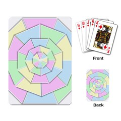 Color Wheel 3d Pastels Pale Pink Playing Card