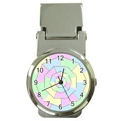 Color Wheel 3d Pastels Pale Pink Money Clip Watches