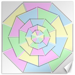 Color Wheel 3d Pastels Pale Pink Canvas 12  X 12