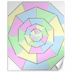 Color Wheel 3d Pastels Pale Pink Canvas 11  X 14