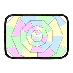 Color Wheel 3d Pastels Pale Pink Netbook Case (medium)