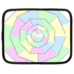 Color Wheel 3d Pastels Pale Pink Netbook Case (xxl)