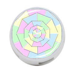 Color Wheel 3d Pastels Pale Pink 4 Port Usb Hub (two Sides)