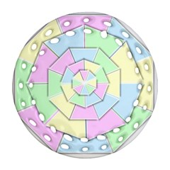 Color Wheel 3d Pastels Pale Pink Round Filigree Ornament (two Sides)