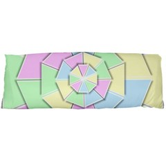 Color Wheel 3d Pastels Pale Pink Body Pillow Case Dakimakura (two Sides)