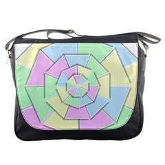 Color Wheel 3d Pastels Pale Pink Messenger Bags