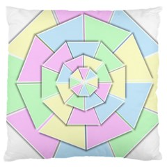 Color Wheel 3d Pastels Pale Pink Large Cushion Case (two Sides) by Nexatart