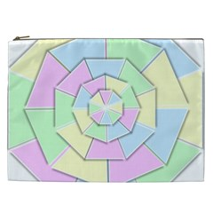 Color Wheel 3d Pastels Pale Pink Cosmetic Bag (xxl)