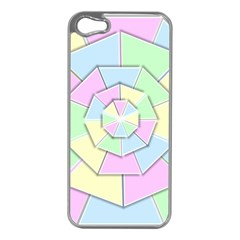 Color Wheel 3d Pastels Pale Pink Apple Iphone 5 Case (silver)