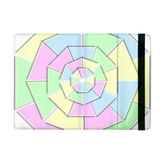 Color Wheel 3d Pastels Pale Pink Apple Ipad Mini Flip Case