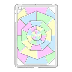 Color Wheel 3d Pastels Pale Pink Apple Ipad Mini Case (white)