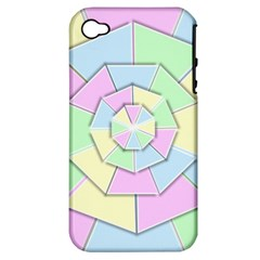 Color Wheel 3d Pastels Pale Pink Apple Iphone 4/4s Hardshell Case (pc+silicone)