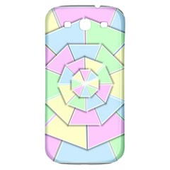 Color Wheel 3d Pastels Pale Pink Samsung Galaxy S3 S Iii Classic Hardshell Back Case by Nexatart