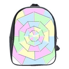 Color Wheel 3d Pastels Pale Pink School Bag (xl)