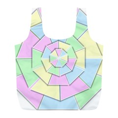Color Wheel 3d Pastels Pale Pink Full Print Recycle Bags (l)