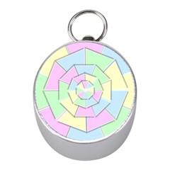 Color Wheel 3d Pastels Pale Pink Mini Silver Compasses