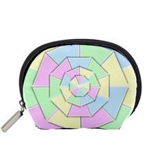 Color Wheel 3d Pastels Pale Pink Accessory Pouches (small)