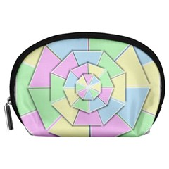 Color Wheel 3d Pastels Pale Pink Accessory Pouches (large)  by Nexatart