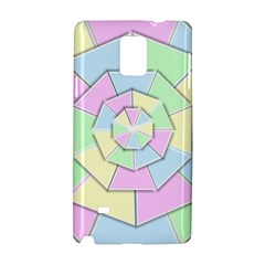 Color Wheel 3d Pastels Pale Pink Samsung Galaxy Note 4 Hardshell Case