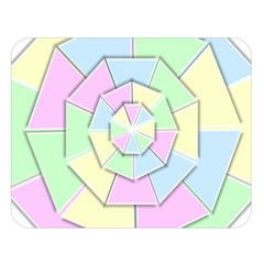 Color Wheel 3d Pastels Pale Pink Double Sided Flano Blanket (large)