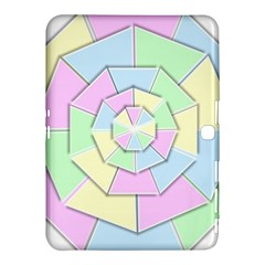 Color Wheel 3d Pastels Pale Pink Samsung Galaxy Tab 4 (10 1 ) Hardshell Case