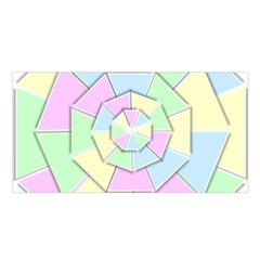 Color Wheel 3d Pastels Pale Pink Satin Shawl