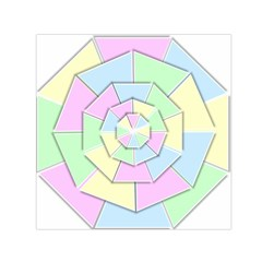Color Wheel 3d Pastels Pale Pink Small Satin Scarf (square)