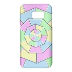 Color Wheel 3d Pastels Pale Pink Samsung Galaxy S7 Hardshell Case  by Nexatart