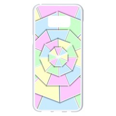 Color Wheel 3d Pastels Pale Pink Samsung Galaxy S8 Plus White Seamless Case