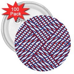 Abstract Chaos Confusion 3  Buttons (100 Pack)