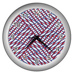 Abstract Chaos Confusion Wall Clocks (silver)